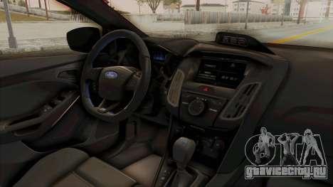 Ford Focus RS 2017 для GTA San Andreas вид изнутри