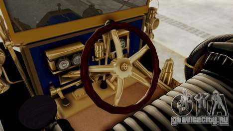 Ford T 1912 Open Roadster v2 для GTA San Andreas вид изнутри
