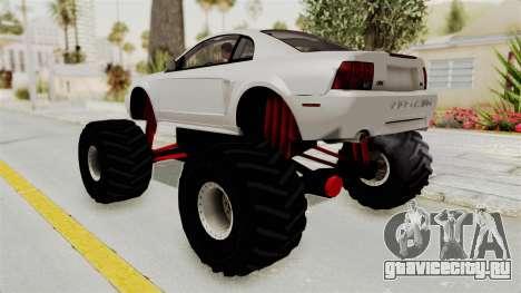 Ford Mustang 1999 Monster Truck для GTA San Andreas вид слева