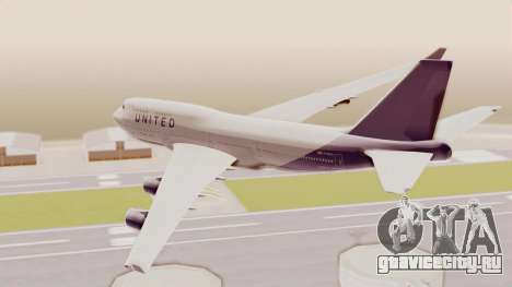 Boeing 747-400 United Airlines для GTA San Andreas вид справа