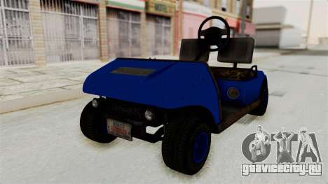 GTA 5 Gambler Caddy Golf Cart IVF для GTA San Andreas вид справа