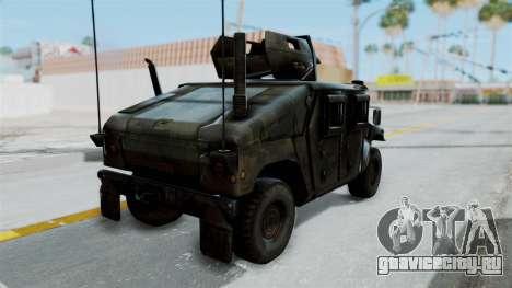 Humvee M1114 Woodland для GTA San Andreas вид слева