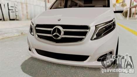 Mercedes-Benz V-Class 2015 для GTA San Andreas вид сверху