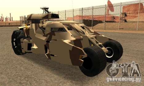 Army Tumbler Gun Tower from TDKR для GTA San Andreas вид сбоку