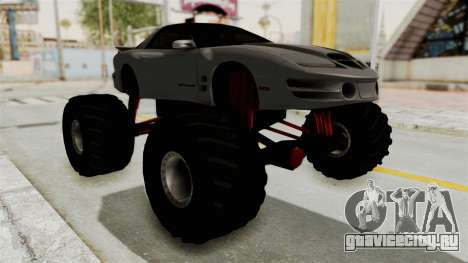 Pontiac Firebird Trans Am 2002 Monster Truck для GTA San Andreas вид справа