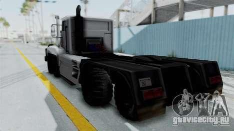 Roadtrain 8x8 v1 для GTA San Andreas вид слева