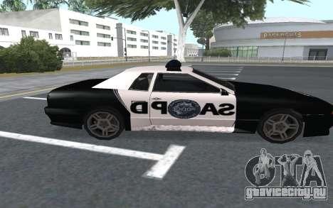 Elegy SAPD для GTA San Andreas вид сзади слева
