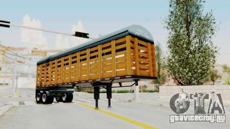 Trailer de Estacas для GTA San Andreas вид сзади слева