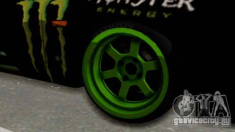 Nissan Skyline R33 Drift Monster Energy Falken для GTA San Andreas вид сзади