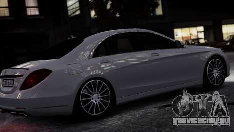Mercedes-Benz w222 для GTA 4 вид слева
