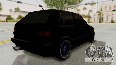 Volkswagen Golf 2 GTI для GTA San Andreas вид сзади слева