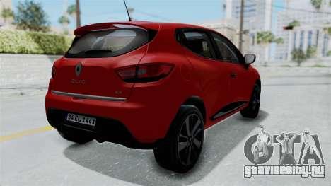 Renault Clio 4 HQLM для GTA San Andreas вид справа
