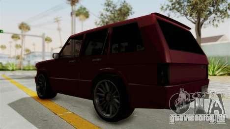 Huntley для GTA San Andreas вид сзади слева