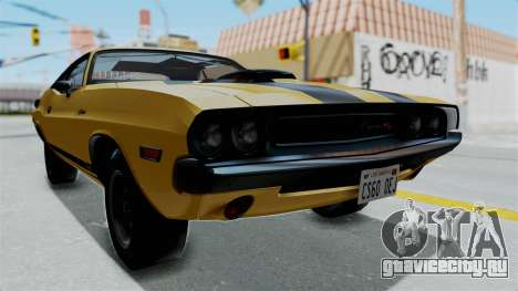 Dodge Challenger RT 440 1970 Six Pack для GTA San Andreas вид справа