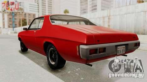Holden Monaro GTS 1971 SA Plate IVF для GTA San Andreas вид сзади слева