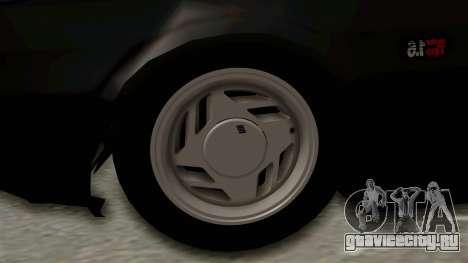 Fiat Uno для GTA San Andreas вид сзади