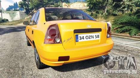 Hyundai Accent Admire для GTA 5 вид сзади слева