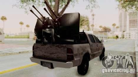 Toyota Hilux 2014 Army Libyan для GTA San Andreas вид сзади слева