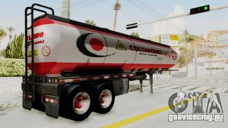 Trailer de Conbustible для GTA San Andreas вид слева
