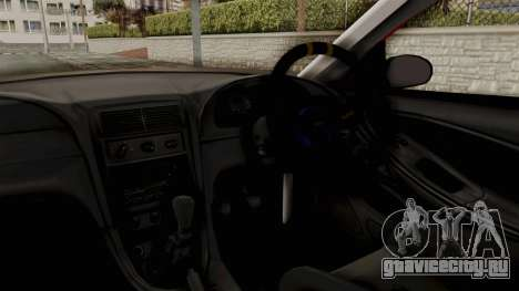 Ford Mustang 1999 Rusty Rebel для GTA San Andreas вид изнутри