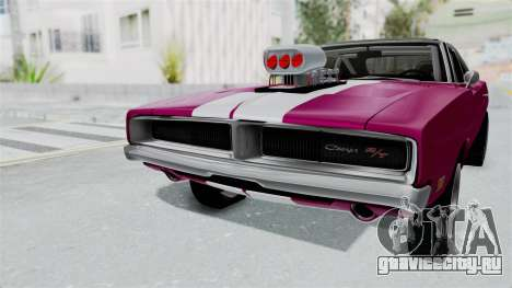 Dodge Charger 1969 Drag для GTA San Andreas вид справа