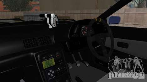 Nissan Skyline BNR32 Hot Version для GTA San Andreas вид изнутри