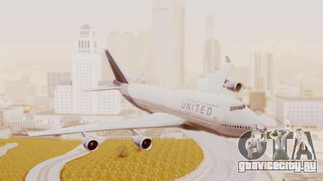 Boeing 747-400 United Airlines для GTA San Andreas