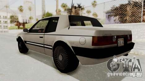 Imponte Bravura V6 Sport 1990 для GTA San Andreas вид сзади слева