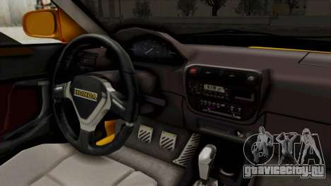 Honda Civic Vermidon для GTA San Andreas вид изнутри