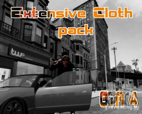 Extensive Cloth Pack for Niko 1.0 для GTA 4