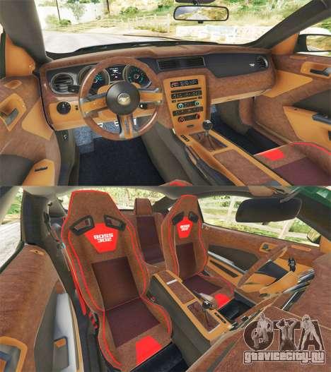 Ford Mustang Boss 302 2013 для GTA 5 вид сзади справа