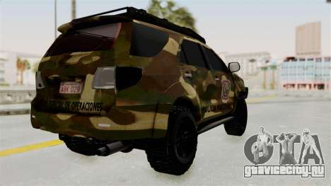 Toyota Fortuner 4WD 2015 Paraguay для GTA San Andreas вид справа