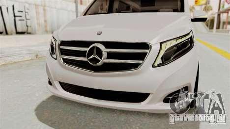 Mercedes-Benz V-Class 2015 для GTA San Andreas вид снизу
