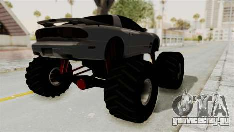 Pontiac Firebird Trans Am 2002 Monster Truck для GTA San Andreas вид сзади слева