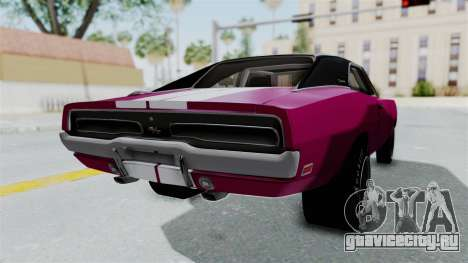 Dodge Charger 1969 Drag для GTA San Andreas вид слева