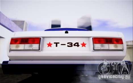 ВАЗ 2107 IVF для GTA San Andreas вид изнутри