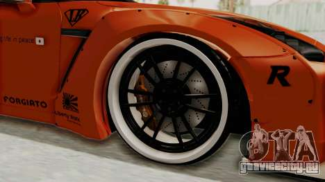 Nissan GT-R R35 Liberty Walk LB Performance для GTA San Andreas вид сзади