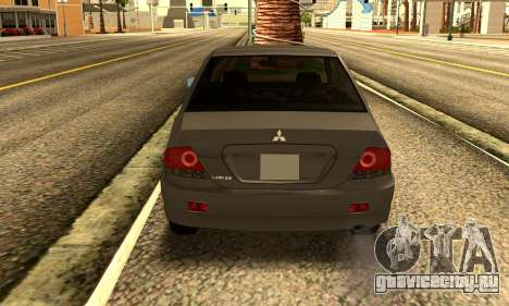 Mitsubishi Lancer 2005 для GTA San Andreas вид справа