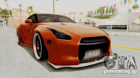 Nissan GT-R R35 Liberty Walk LB Performance для GTA San Andreas вид справа