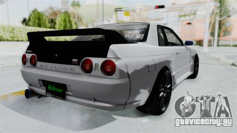 Nissan Skyline BNR32 Hot Version для GTA San Andreas вид сзади слева