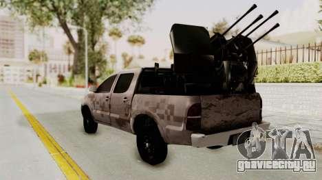 Toyota Hilux 2014 Army Libyan для GTA San Andreas вид слева