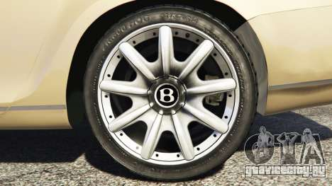 Bentley Continental Flying Spur 2010 для GTA 5 вид спереди справа