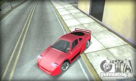 Ferrari F40 для GTA San Andreas вид сзади слева