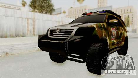 Toyota Fortuner 4WD 2015 Paraguay для GTA San Andreas