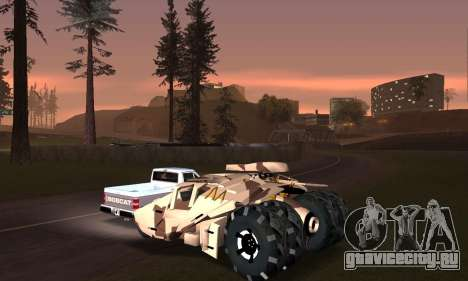 Army Tumbler Gun Tower from TDKR для GTA San Andreas двигатель