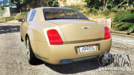 Bentley Continental Flying Spur 2010 для GTA 5 вид сзади слева