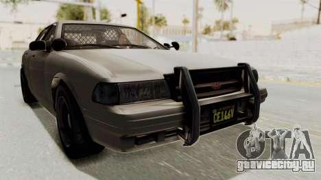 GTA 5 Vapid Stanier II Police Cruiser 2 IVF для GTA San Andreas вид сзади слева