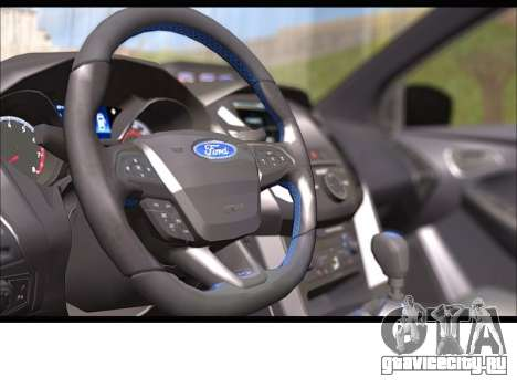Форд Фокус РС 2017 для GTA San Andreas вид сзади