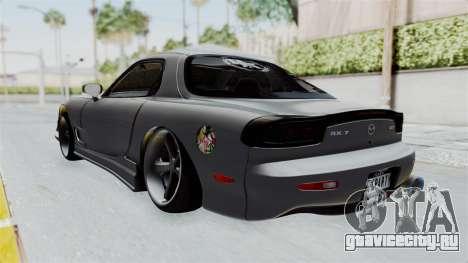 Mazda RX-7 FD3S HellaFlush для GTA San Andreas вид сзади слева