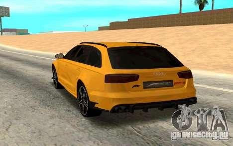 Audi RS6 Avant 2015 ABT для GTA San Andreas вид сзади слева